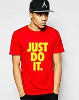 Брендовая футболка Nike, мужская оранжевая футболка найк, с цветным принтом, ф474
