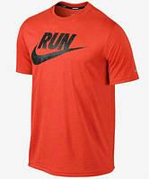 Брендовая футболка Nike, отличного качества, мужская футболка найк, оранжевая, ф476
