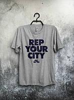 Брендовая футболка Nike, серая, мужская/женская футболка найк, все размеры в наличии, ф526
