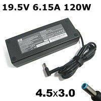 Зарядное устройство для ноутбука HP/Compaq: 19,5 V, 120 W, 6,15 A, класс А, 4,5х3,0мм pin inside blue