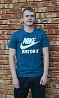 Брендовая футболка Nike, синяя футболка найк, отличного качества, летняя, ф557