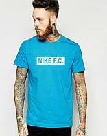 Брендовая футболка Nike, найк, мужская с белым принтом ф583