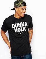 Брендовая футболка Nike, отличного качества, чёрная, мужская футболка найк, ф1831