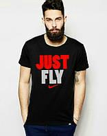 Брендовая футболка Nike, повседневная футболка найк, отличного качества, трикотаж, мужская, ф1853