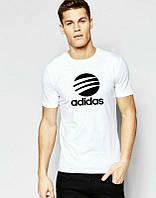 Брендовая футболка Adidas, повседневная футболка адидас, отличного качества, мужская, ф1867