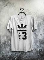 Брендовая футболка Adidas, повседневная футболка адидас, отличного качества, унисекс, белая, ф18