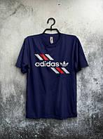 Брендовая футболка Adidas, адидас, черная, мужская, хб, качественная, стильная, ф1952