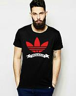 Брендовая футболка Adidas, адидас, черная, в ассортименте, мужская, хб, летняя, стильная, ф1965