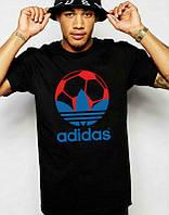 Брендовая футболка Adidas, адидас, черная, мужская, хлопок, качественная, летняя, стильная, ф1971