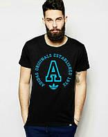 Брендовая футболка Adidas, адидас, черная, мужская, хб, большое лого, летняя, стильная, ф1977
