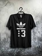 Брендовая футболка Adidas, адидас 03, черная, мужская, хб, в наличии, летняя, стильная, ф1981
