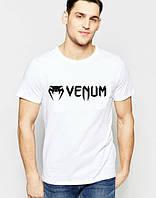 Брендовая футболка VENUM, венум, белая, летняя, мужская, стильная, хб, ф2003