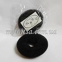 Валик-бублик  для гульки, 7 см,  черный