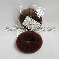 Валик-бублик  для гульки, 7 см,  коричневый