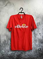 Брендовая футболка ELLESSE, брендовая футболка елсе, красная, ф2093