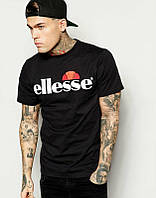 Брендовая футболка ELLESSE, брендовая футболка елсе, черная, ф2099