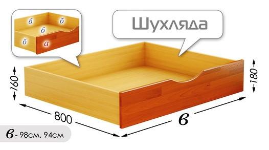 Выдвижной ящик для кровати Нота Дуэт