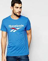 Брендовая футболка Reebok, рибок, мужская, в наличии, хлопок, ф2251