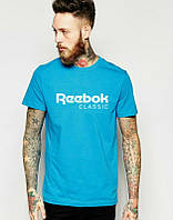 Брендовая футболка Reebok, рибок, синяя, в ассортименте, хлопок, отличное качество, ф2269