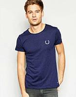 Брендовая футболка Fred Perry, фред пери, темно-синяя, мужская, летняя,  хлопок, ф2349