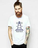 Брендовая футболка, белая, хлопок, мужская, спортивная, качественная, ф2456
