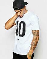Брендовая футболка, футболка черная 10, мужская, спортивная, хб, в наличии, молодежная, ф2461