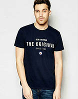 Брендовая футболка, черная, в наличии, летняя, мужская, хб, спортивная, ф2463
