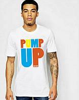 Брендовая футболка, белая, мужская, с большим лого, хлопок, спортивная, в ассортименте, ф2473