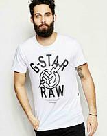 Брендовая футболка, белая, хлопок, мужская, в ассортименте, спортивная, ф2494