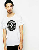 Брендовая футболка, белая, трикотаж, в наличии, качественная, спортивная, летняя, ф2563