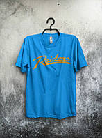 Брендовая футболка, синяя, мужская, молодежная, унисекс, летняя, качественная, ф2577