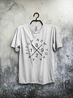 Брендовая футболка, белая, хлопок, в наличии, летняя, спортивная, качественная, ф2579