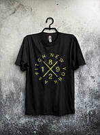 Брендовая футболка, черная, с большим лого, трикотаж, летняя, качественная, молодежная, ф2580