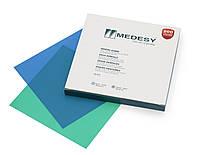 Платки для коффердама (раббердама), салатовые средние ментоловые 15x15 см, 36 штук в упаковке, Medesy 5610/М-V