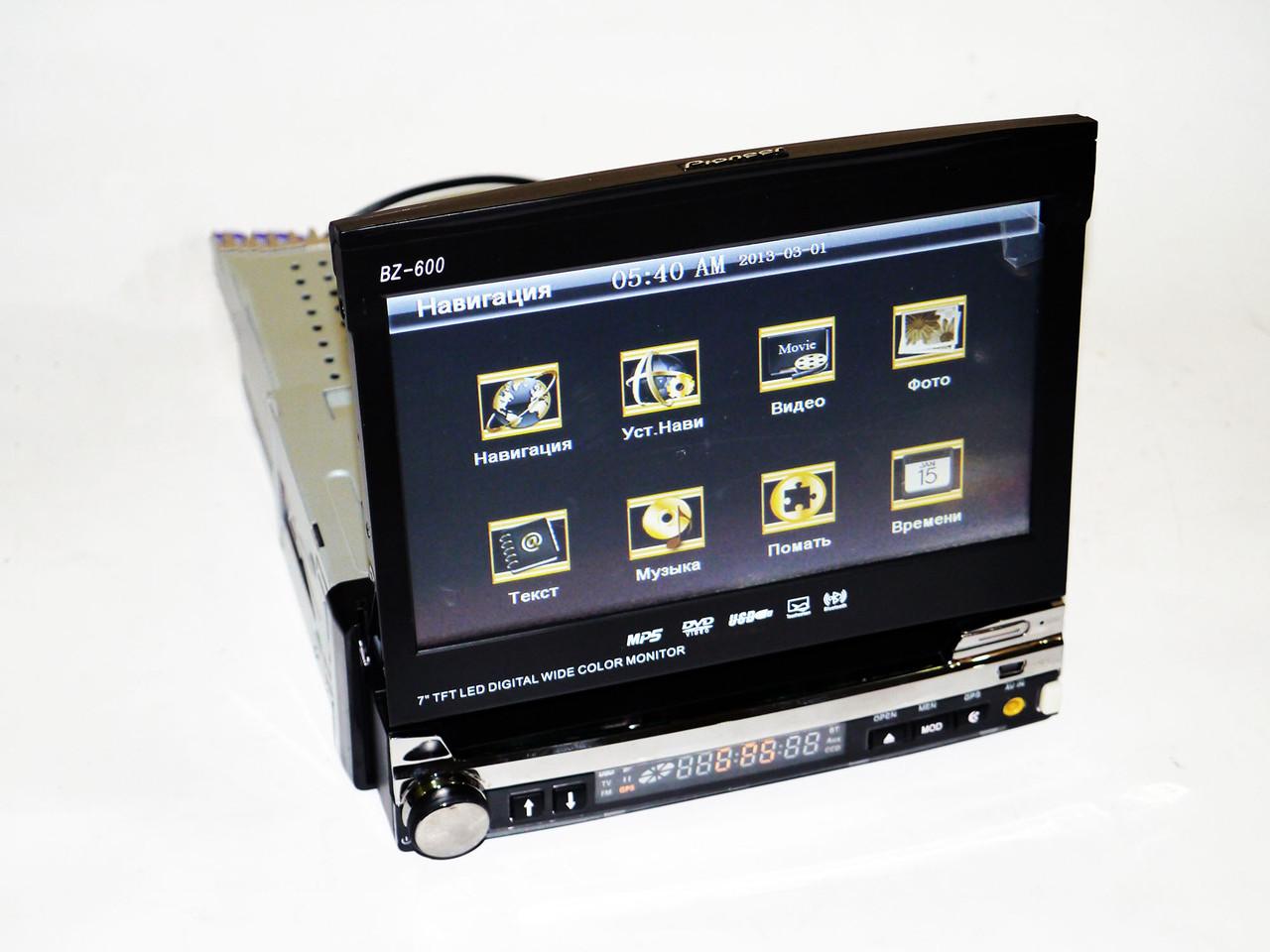 Автомагнитола 1din Pioneer S600 + GPS + TV + Камера + ТВ антенна