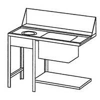 Стол для первичной обработки грязной посуды, левосторонний Bartscher 109772