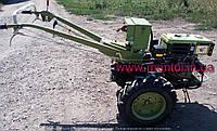 Мотоблок BIZON 1GZ-90 (10 л. с., дизель, почвофреза, плуг, колеса 6.00-12)
