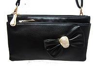 Женская сумка клатч 150 повседневный модный клубный черный
