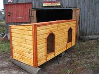 Будка для двух собак блок-хауз.
