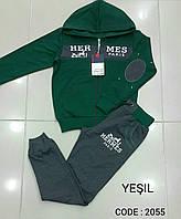 Спортивный костюм для мальчиков подростков HERMES Зелёный размеры: 158,170,176