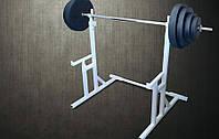 Стойка для приседаний RN Sport S40 со страховочными упорами  + Штанга 94 кг