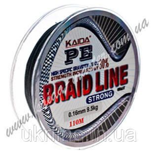 Шнур плетеный 0,40 мм Kaida Braid Line strong YX-112-40, плетенка ...