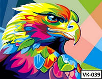 Картина на холсте по номерам VK 039  40x30см