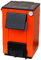 Котел на твердом топливе Макситерм 14 кВт с варочной плитой на угле и дровах. Отапливает до 120 м.кв
