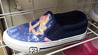 Стильные текстильные слипоны/кеды на девочку Эльза Vesnoe 27,28,29,30,31,32