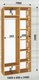 Шкаф-купе 1000х600х2400 Влаби
