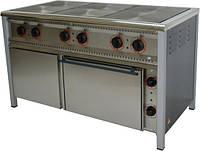 Плита електрична промислова АРМ-ЕКО ПЕ-6Ш енергозберігаюча, нержавійка