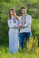 """Мужская вышиванка и женское платье """"белая нежность"""""""