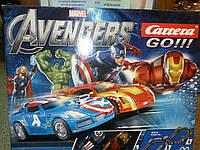 Игровой набор Carrera Гоночная трасса GO Marvel The Avengers Hero Team Chase (62283)