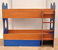 Детская кровать ФАНТАЗИЯ (двухъярусная) Барвинок